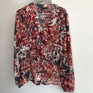 Tribal Abstract Floral Blouse